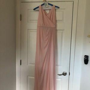 Pink chiffon long dress